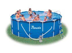 Bazén Florida 4,57 x 1,22 komplet + kartušová filtrácia-bNadzemný bazén s celkovým objemom vody 16,6 m3./b