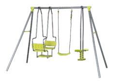Hojdačka detská Marimex 212-bMultifunkčná hojdačka Marimex má v jednej zostave tri hojdačky. Celkové maximálne zaťaženie je 190 kg./b