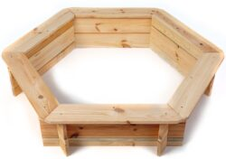 Pieskovisko drevené šesťhranné