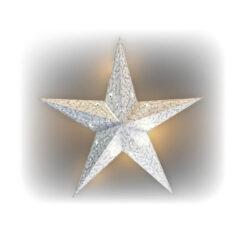 Hviezda svietiaca LED papierová